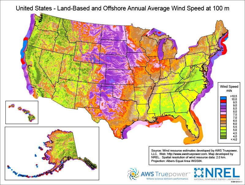Wind map resources